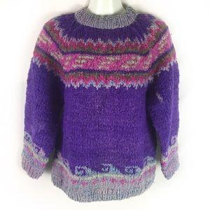 VINTAGE |Peruvian chunky wool sweater S